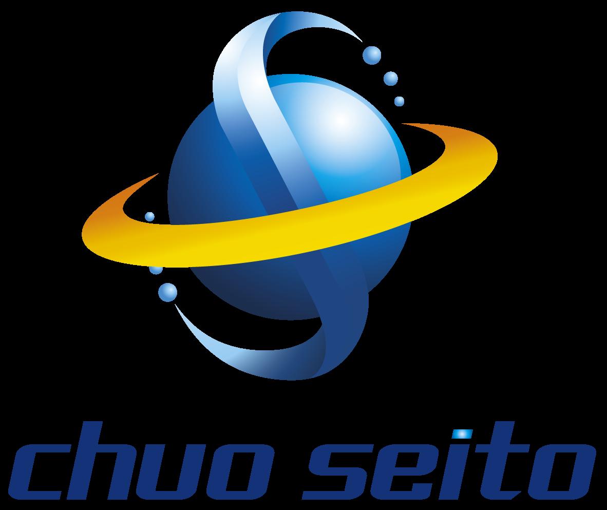 商社/卸売業と近未来と青のロゴ