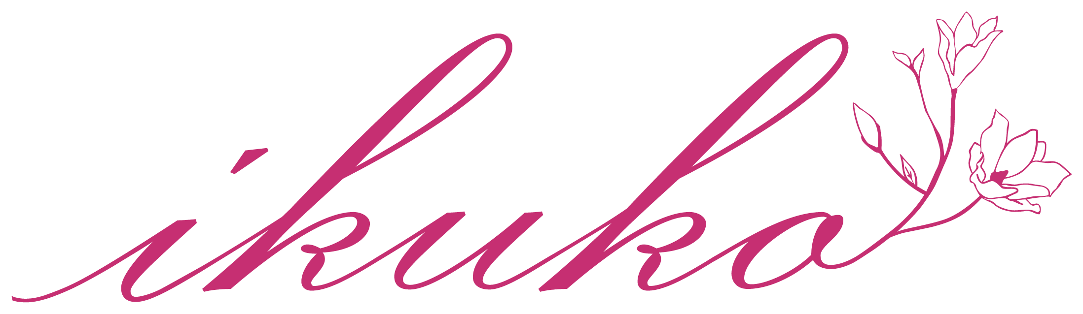 サービス業と高級感/気品とピンクのロゴ