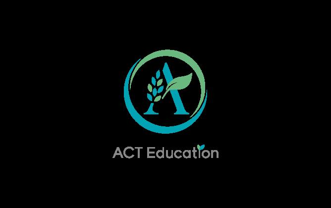 学校/教育/学習塾/レッスン系と親しみ/優しいと青のロゴ
