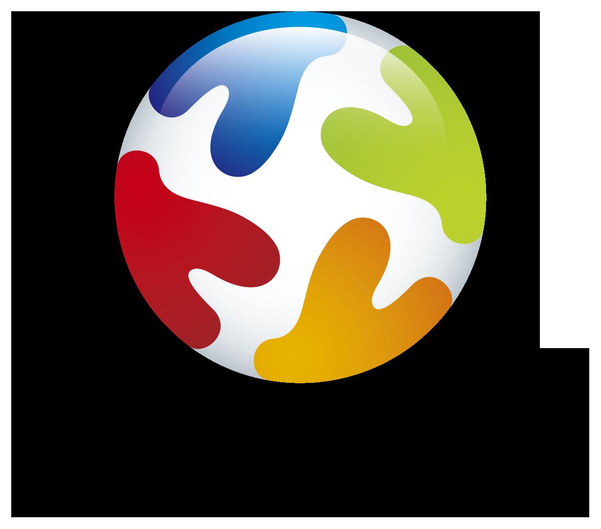 製造/メーカーと立体的とマルチカラーのロゴ