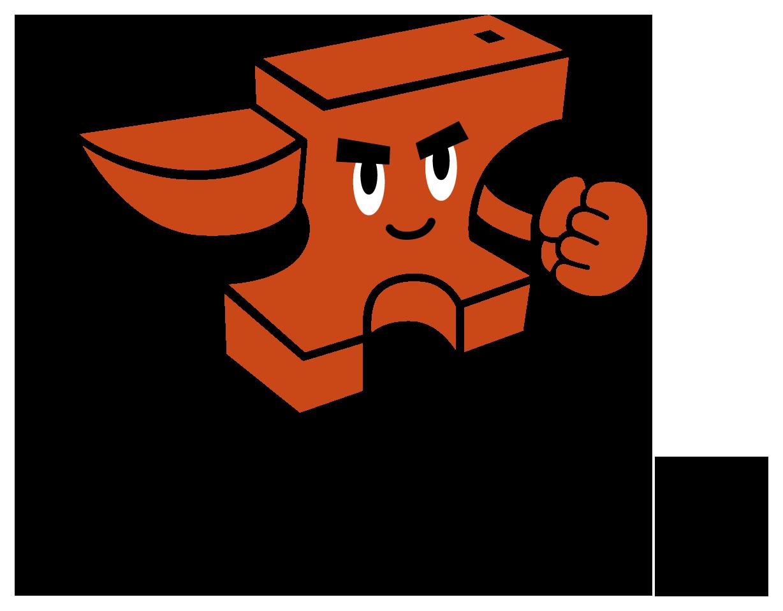 製造/メーカーと親しみ/優しいとオレンジのロゴ