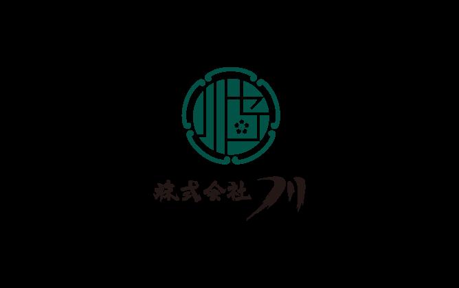 建築/建設/設備/設計/造園と和風/筆タッチと緑のロゴ
