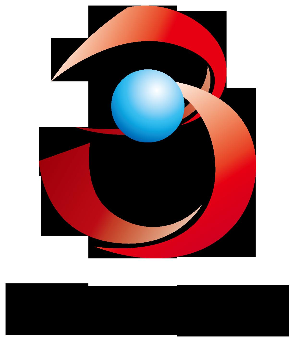 広告/印刷業と近未来と赤のロゴ