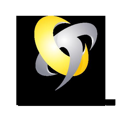 物流/運送と近未来と黄のロゴ