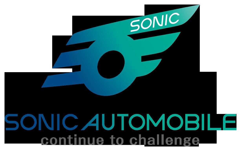 自動車関連(販売/修理・整備)と近未来と青のロゴ