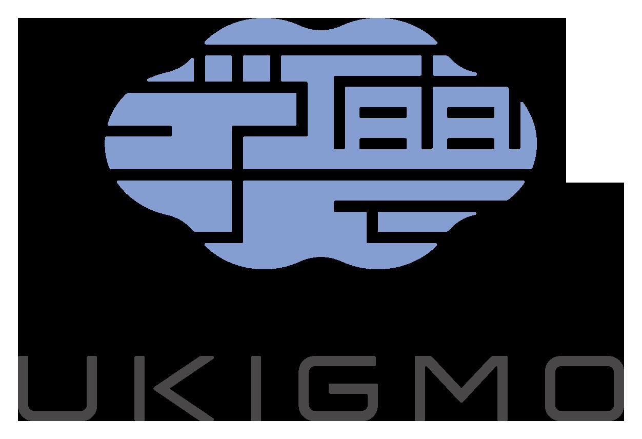 ソフトウェア・プログラム開発と和風/筆タッチと青のロゴ
