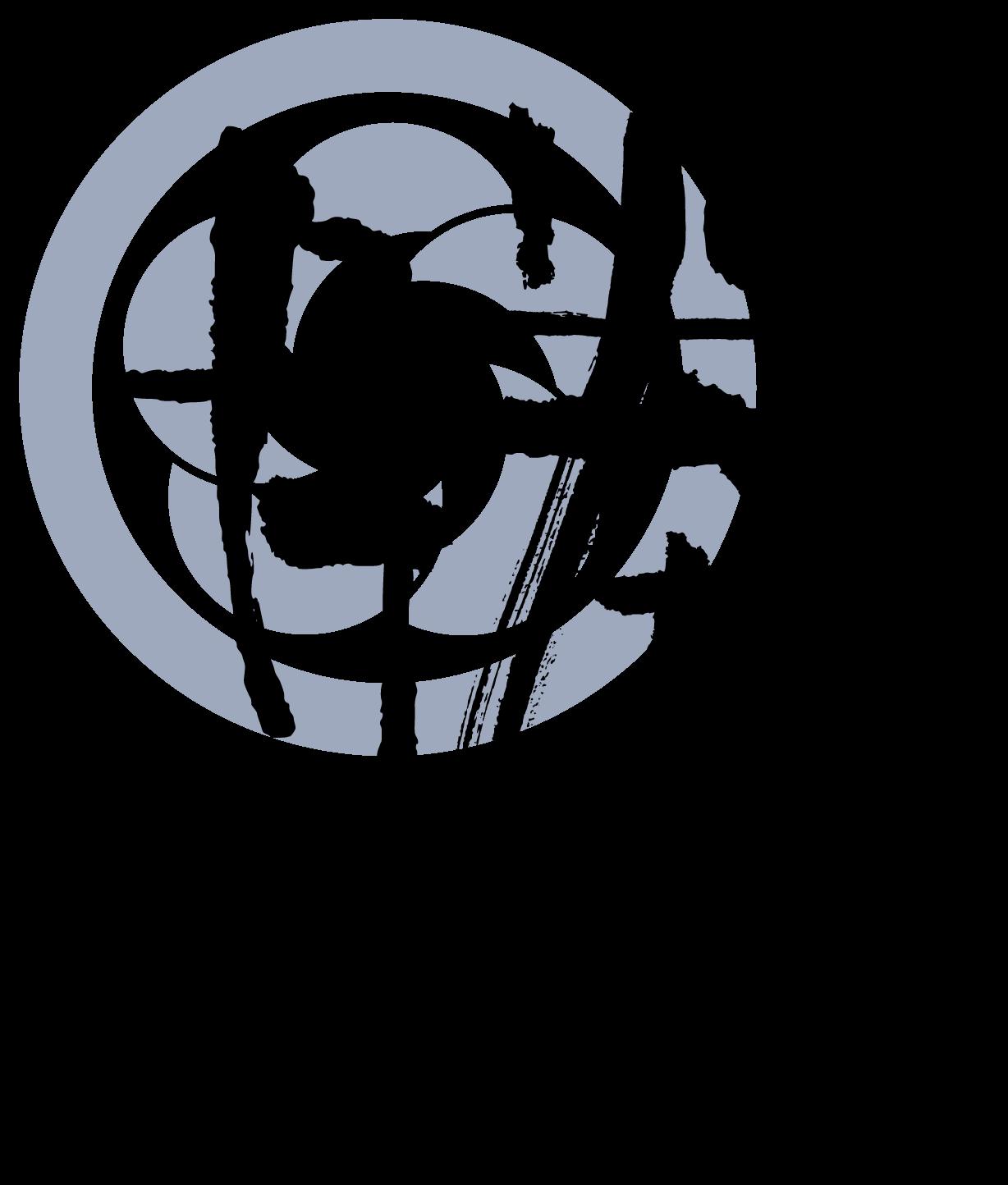 商社/卸売業と和風/筆タッチと黒のロゴ