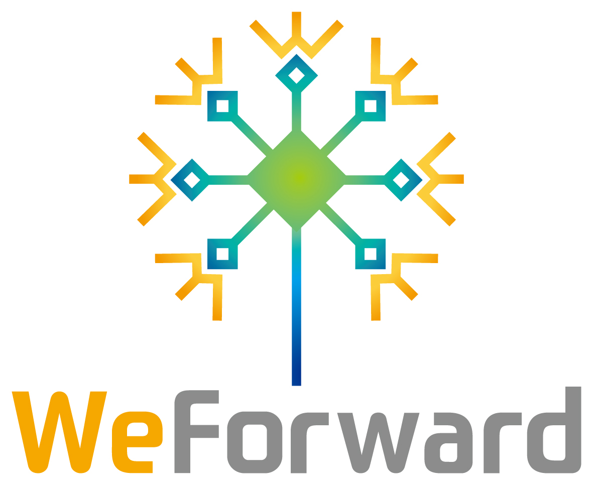 人材系サービスと親しみ/優しいとマルチカラーのロゴ