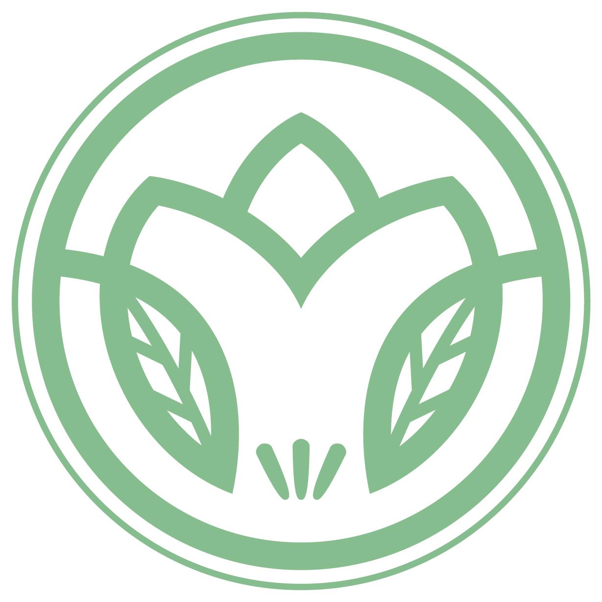 建築/建設/設備/設計/造園とエンブレム・家紋と緑のロゴ