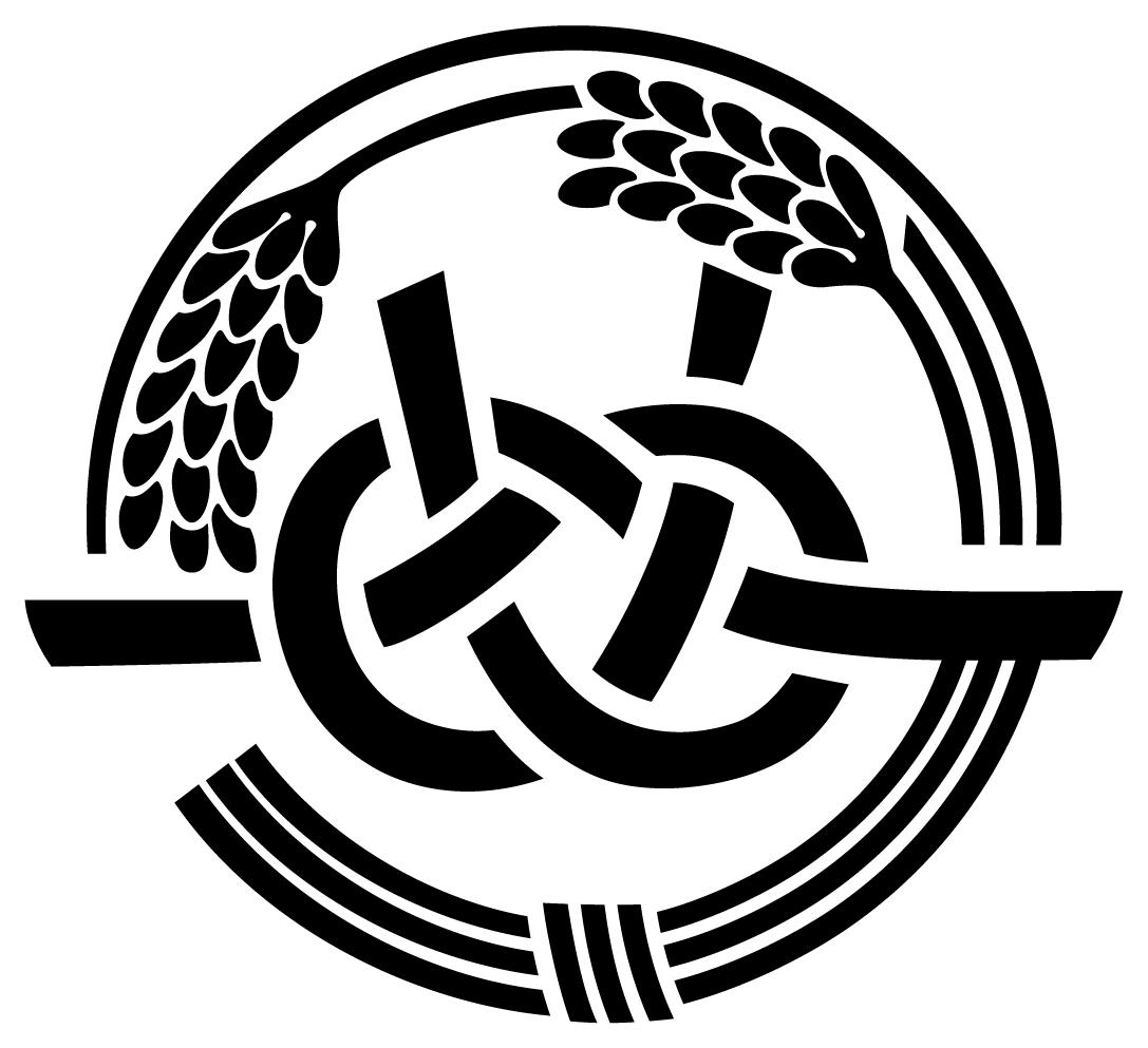 農業/農園/酪農/畜産/水産と和風/筆タッチと黒のロゴ