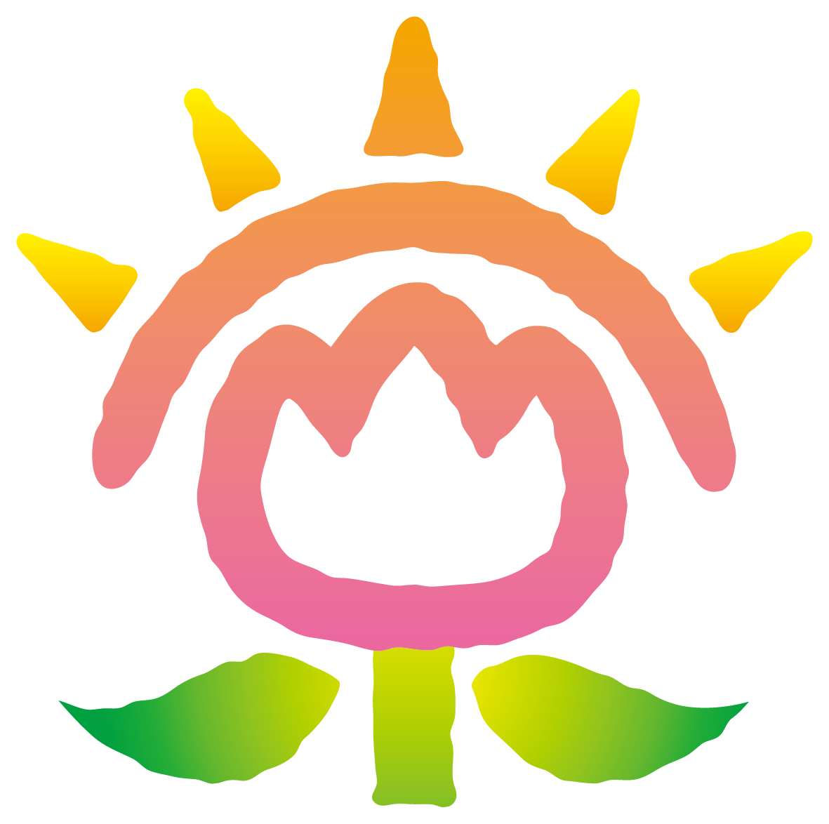 介護/福祉と親しみ/優しいとピンクのロゴ