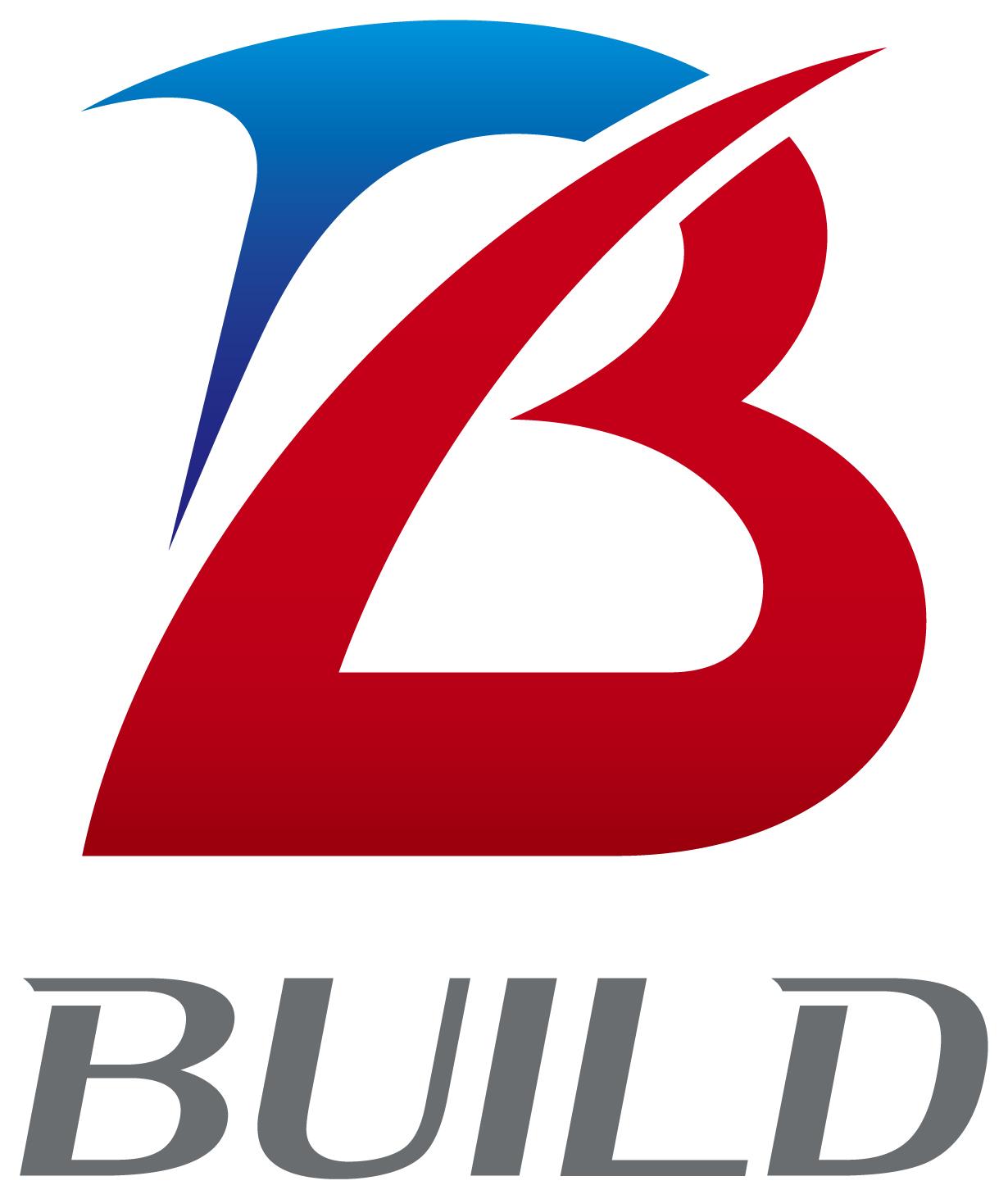 建築/建設/設備/設計/造園とイニシャルと青のロゴ