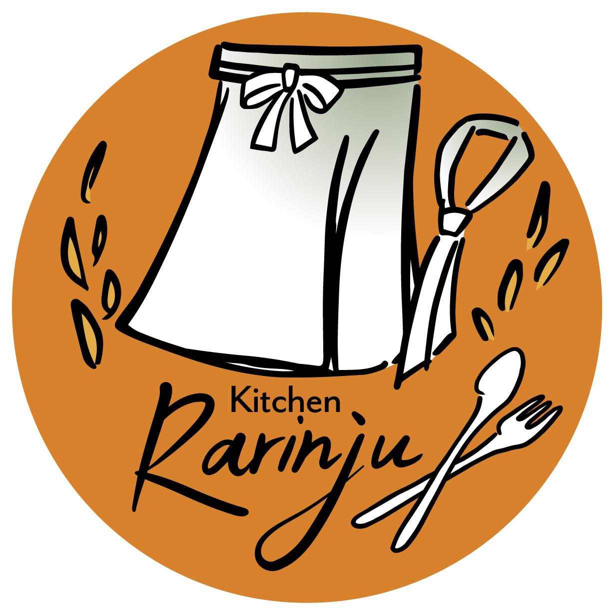 飲食業と親しみ/優しいとオレンジのロゴ
