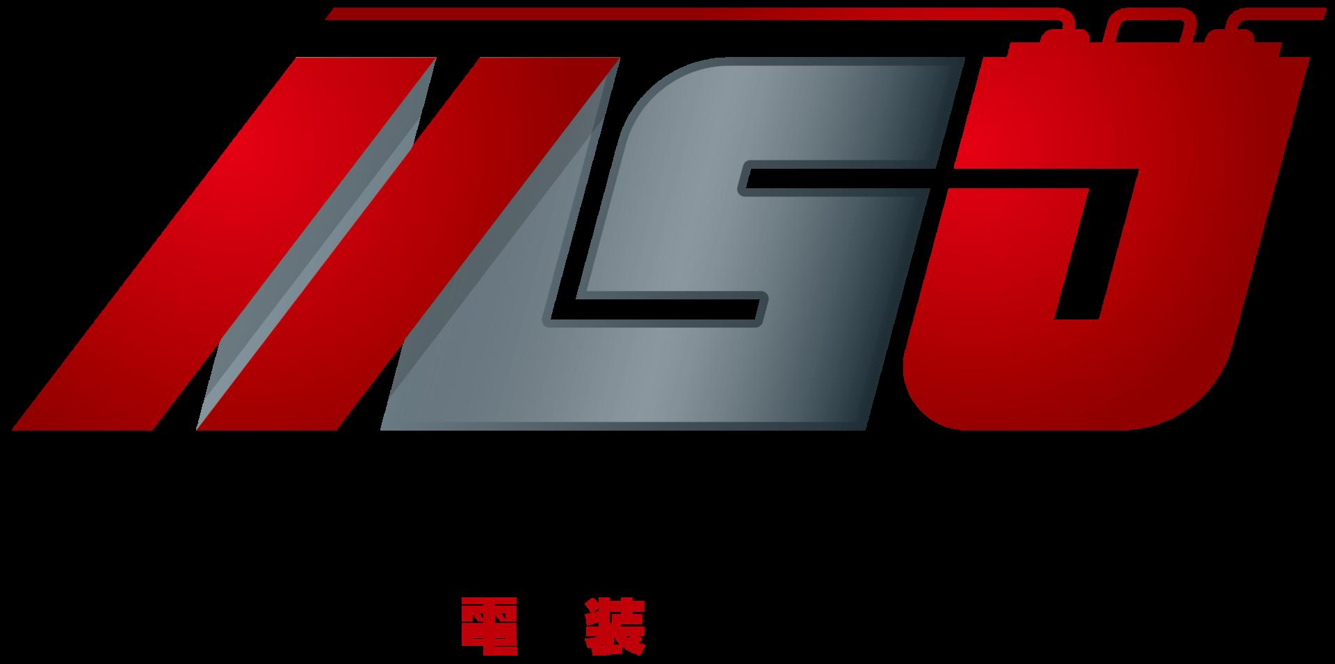 自動車関連(販売/修理・整備)とイニシャルと銀のロゴ